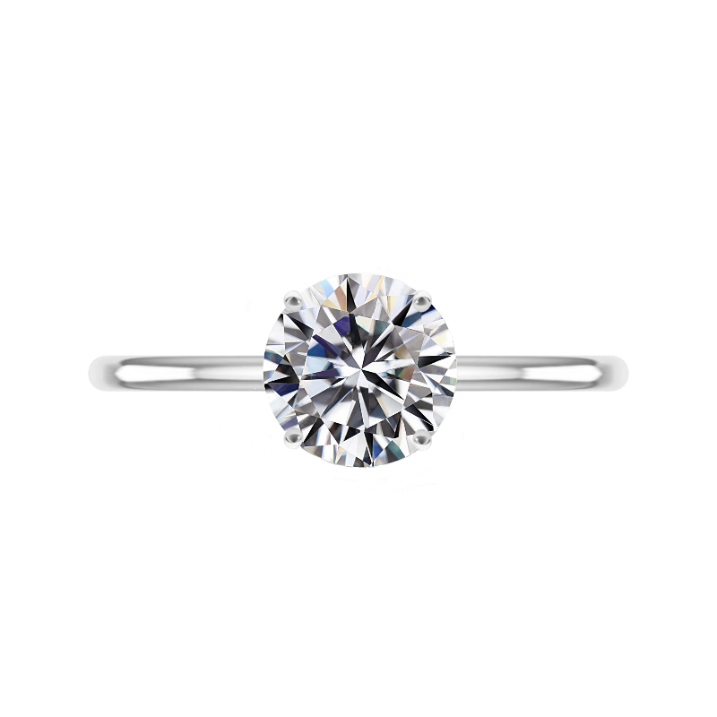 2.50 Carat Round Moissanite Solitaire Ring